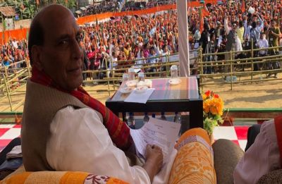 Marriage without groom: Rajnath Singh ribs Congress for not declaring CM candidate in Rajasthan