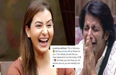 Shilpa Shinde trolled viciously for mocking Karanvir Bohra with a picture of lingerie on his head!