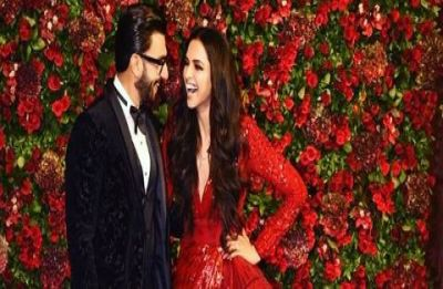 Deepika Padukone and Ranveer Singh reception pictures: Hot red and dashing black go hand-in-hand