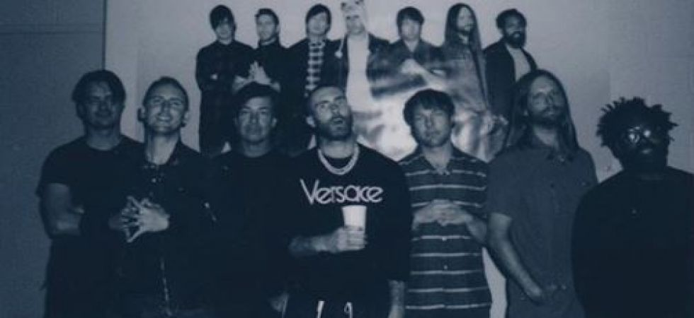 Maroon 5's label didn't want to release 'Moves Like Jagger' (Instagrammed photo)
