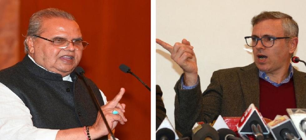 Jammu and Kashmir Governor Satya Pal Malik and National Conference leader Omar Abdullah