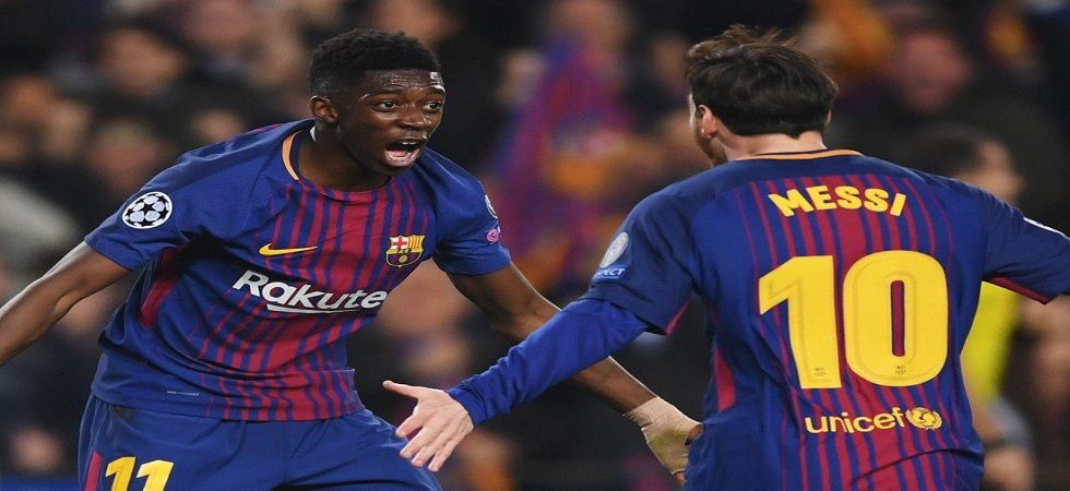 Ousmane Dembele, who was dropped from the Barcelona squad last month, played a huge role in Barcelona's win over Villareal. (Image credit: Twitter)