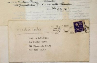 Einstein famous handwritten 'God Letter' of 1954 to be auctioned