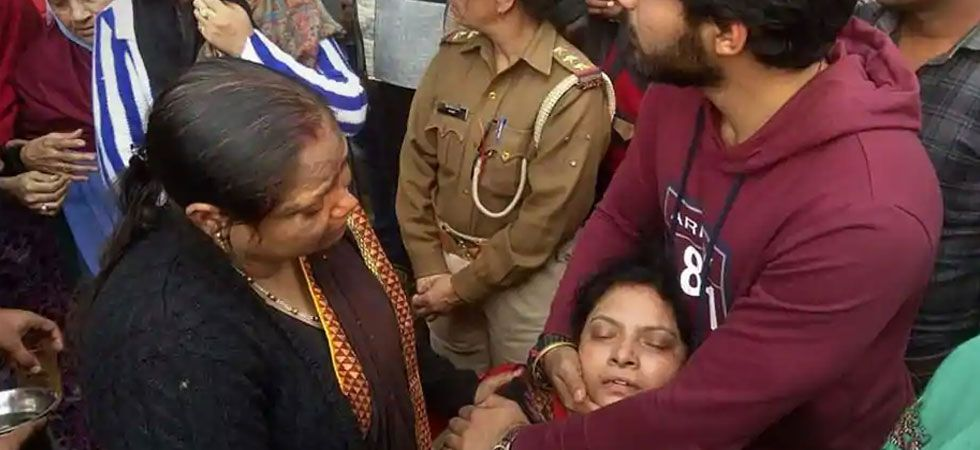 The grieving wife the cop alleged a pre-planned conspiracy and demanded a CBI probe into the case. (PTI Photo)
