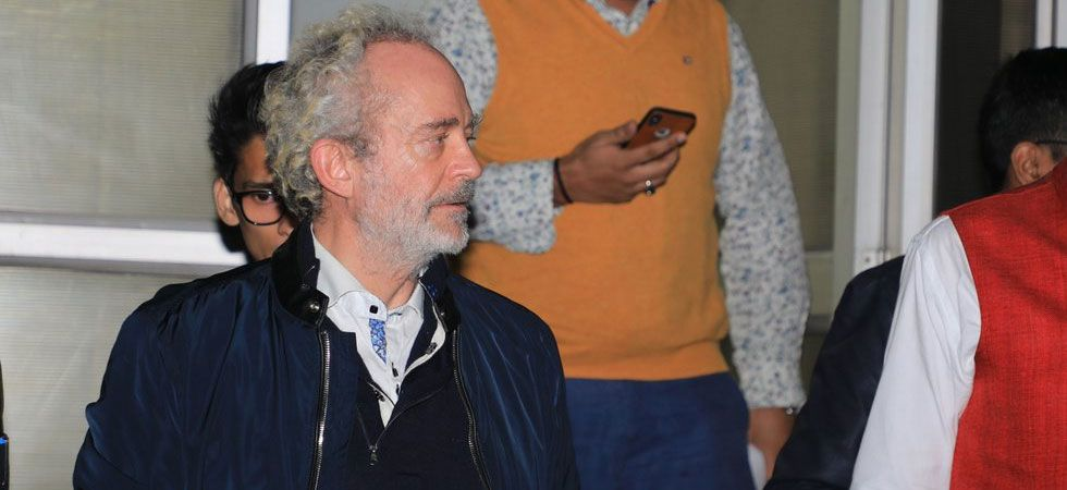 British citizen Christian Michel, the alleged middleman in the Rs 3,600 crore AgustaWestland VVIP choppers scam case, is being questioned at the Central Bureau of Investigation (CBI) headquarters in Delhi. (Photo: ANI)