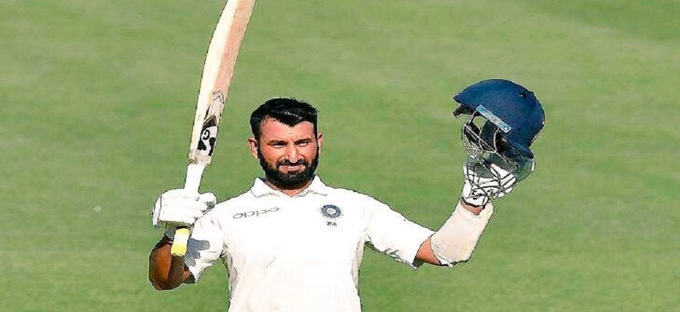 Cheteshwar Pujara blasted his 16th Test century and went past 5000 runs on day 1 of the Adelaide Test. (Image credit: Twitter)