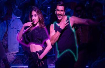Simmba first song: Ranveer Singh, Sara Ali Khan shake a leg in remix version of 'Aankh Marey'