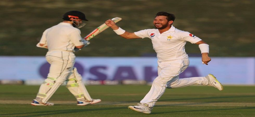 Yasir Shah became the quickest bowler to take 200 wickets in Tests, achieving the feat in just his 33rd Test match. (Image credit: Twitter)