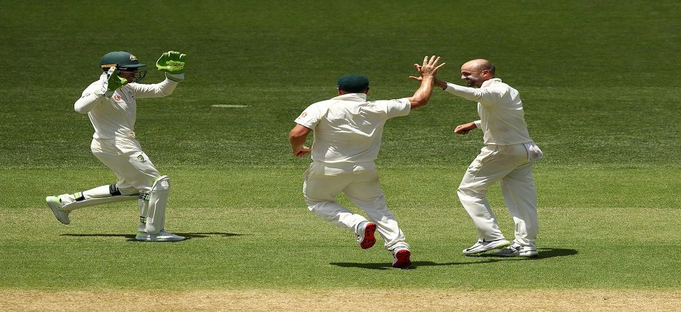 Nathan Lyon became the first spinner to concede 200 sixes in Tests during the Adelaide Test against India. (Image credit: Twitter)