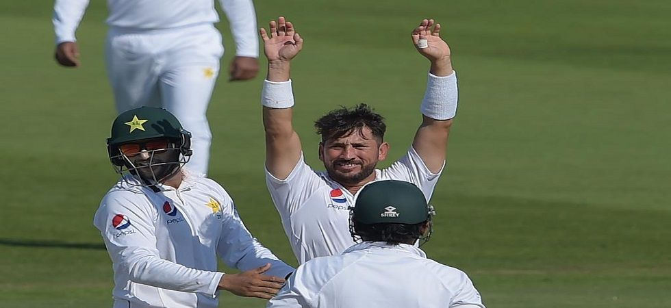 Yasir Shah became the fastest to 200 wickets during the Abu Dhabi Test against New Zealand. (Image credit: ICC Twitter)