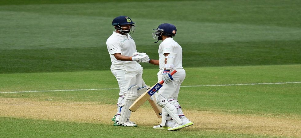 Cheteshwar Pujara and Ajinkya Rahane's fifties have given India a slight advantage in the Adelaide Test. (Image source: Twitter)