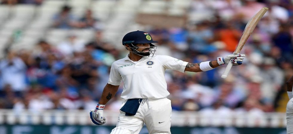 Virat Kohli became the first Indian skipper to reach 2000 Test runs in overseas matches. (Image credit: ICC Twitter)