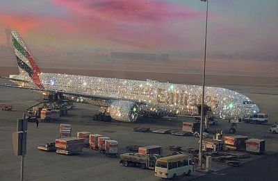 Internet goes crazy over the Diamond studded Emirates Bling 777 then realises it is a result of fine artwork