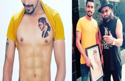 Yo Yo Honey Singh met his die-hard tattooed fan and this is what happened!