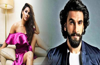 Hina Khan got a savior in Ranveer Singh as she struggled with her dress at an award show