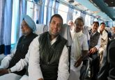 On 'Gathbandhan' bus, Rahul Gandhi takes Opposition leaders to oath-taking ceremonies