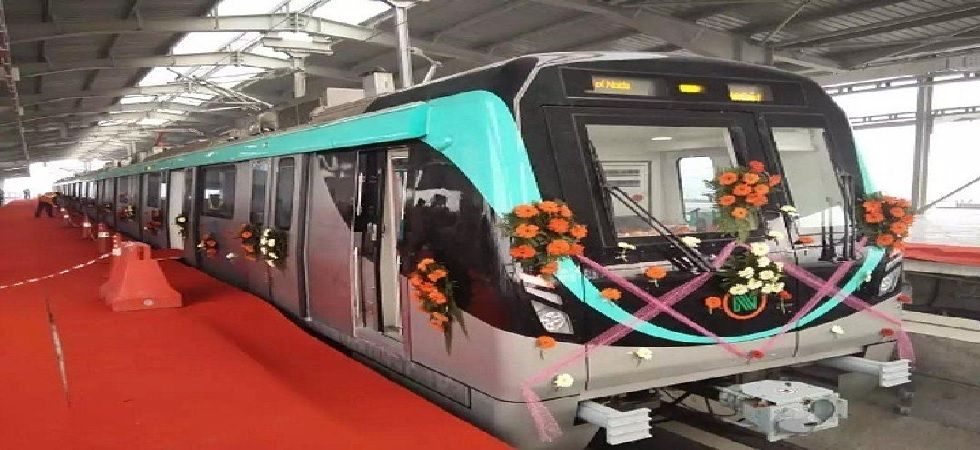 The Aqua Line will interchange with the Delhi Metro at Noida Sector 52 Metro station. (Photo: Twitter@urbantransnews)