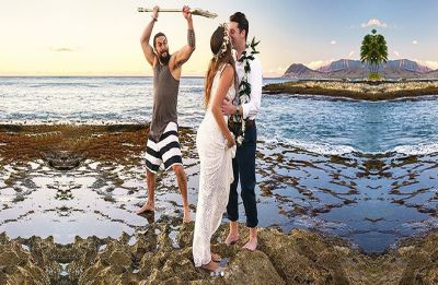 Jason Momoa crashed a couple's wedding as Aquaman with his trident and pictures are hilarious!