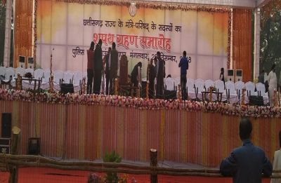 Chhattisgarh Cabinet Formation: Umesh Patel, Anil Bhedia, 7 others take oath as ministers