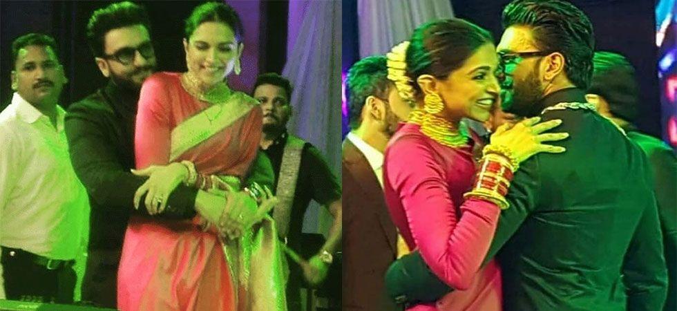 Ranveer Singh dances with wife Deepika Padukone at Kapil and Ginni's reception./ Image: Instagram