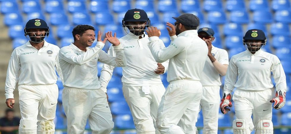 Kuldeep Yadav picked up wickets at vital intervals and was well supported by Ravindra Jadeja on day 3 of the Sydney Test. (Image credit: Twitter)