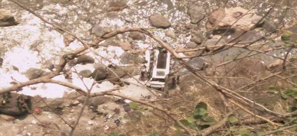 The bus fell into a gorge near Renukaji, a famous Hindu shrine