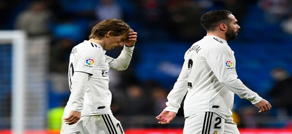 Real Madrid are now fifth in the standings after suffering a 0-2 loss to Real Sociedad. (Image credit: Twitter)