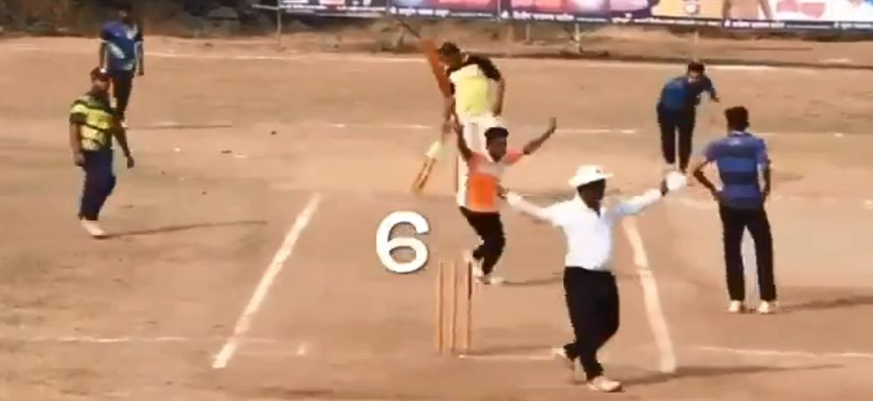 A team in a local match in Maharashtra won a match with six runs needed off one ball with a ball to spare after the bowler bowled six consecutive wides. (Image credit: Twitter)