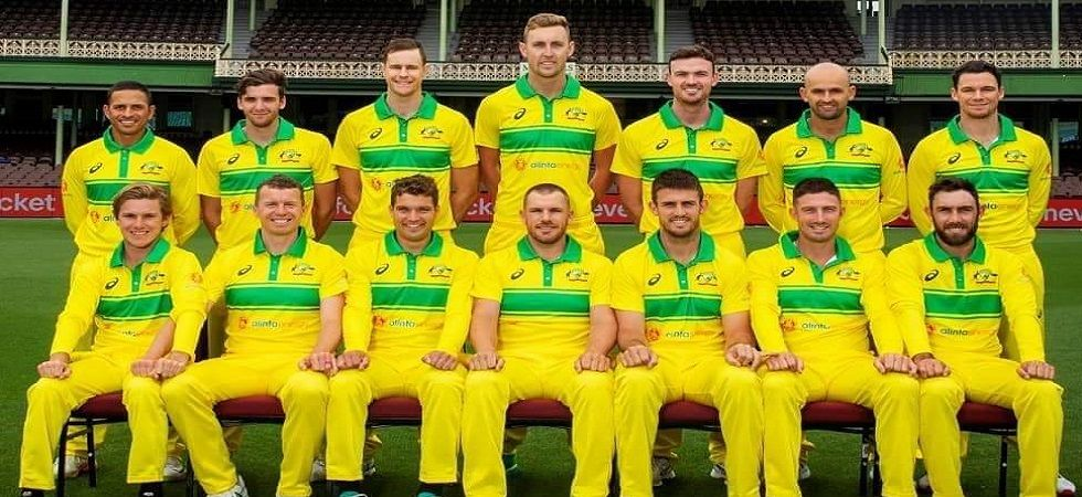The Australian cricket team have donned the 80s retro jersey for the upcoming ODI series against India. (Image credit: Twitter)