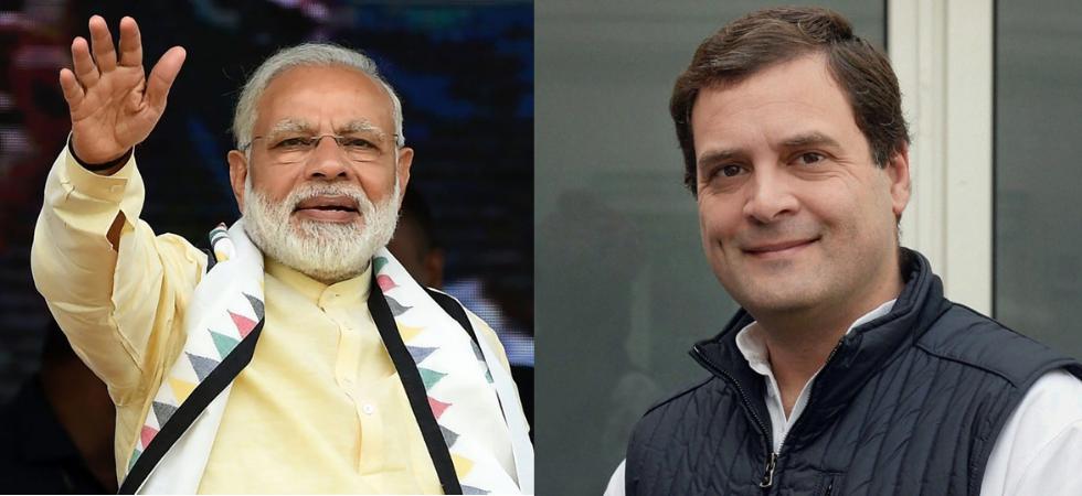 Prime Minister Narendra Modi and Congress president Rahul Gandhi. (File Photo)