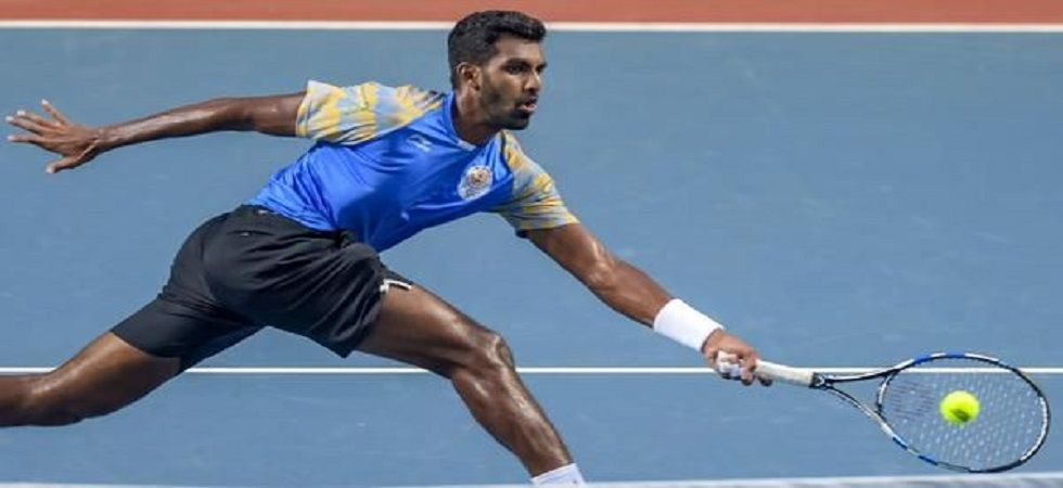 Prajnesh Gunneswaran will open his campaign American world number 39 Frances Tiafoe and if he crosses the opening hurdle, he is likely to face fifth seed and Wimbledon finalist Kevin Anderson. (Image credit: Twitter)