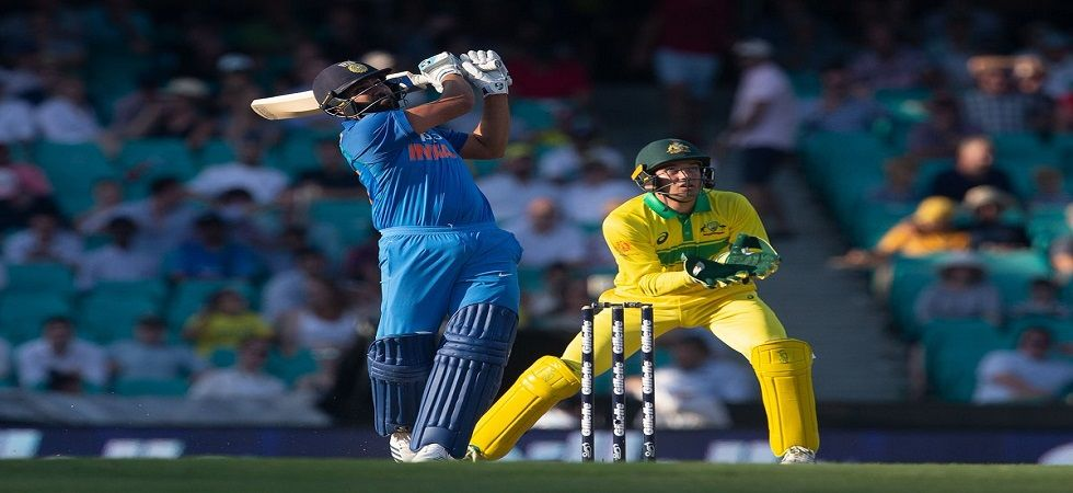 Rohit Sharma took his tally of sixes against Australia to 64, which is the most by any player against a single opposition. (Image credit: Twitter)