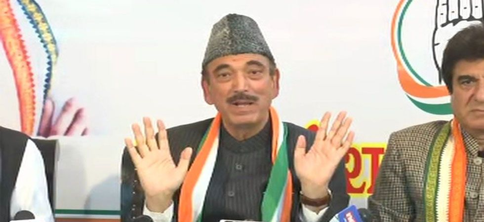 Senior Congress leader Ghulam Nabi Azad. (ANI Photo)