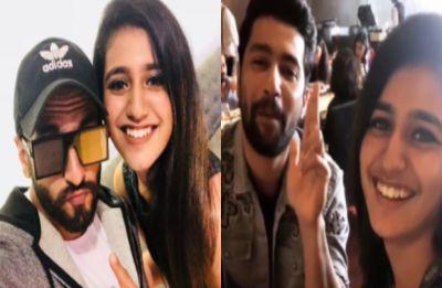 'Wink girl' Priya Prakash Varrier has a fan girl moment with Ranveer Singh and Vicky Kaushal