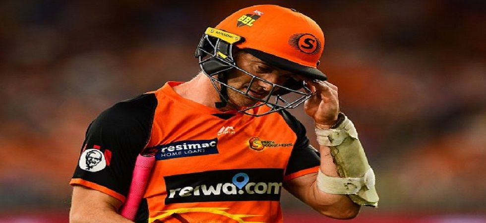 Michael Klinger was dismissed off the seventh ball in the over which overshadowed Perth Scorchers'win over Sydney Sixers. (Image credit: Twitter)