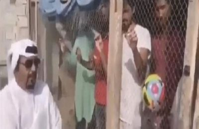 WATCH: UAE man locks up Indian football fans in a birdcage ahead of a crucial match, arrested