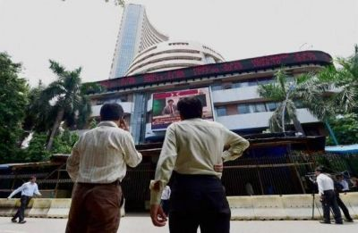Sensex drops over 150 points on weak macro cues
