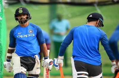 WATCH VIDEO - Shikhar Dhawan counters short ball by playing tennis and cricket in practice