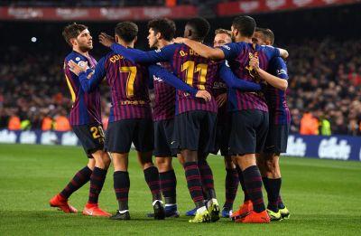 Ousmane Dembele, Luis Suarez restore Barcelona's five-point lead in La Liga