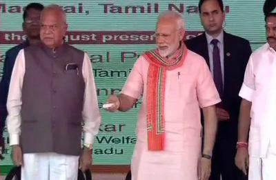Amid black flag protests, PMNarendra Modi lays foundation stone of AIIMS in Tamil Nadu's Madurai