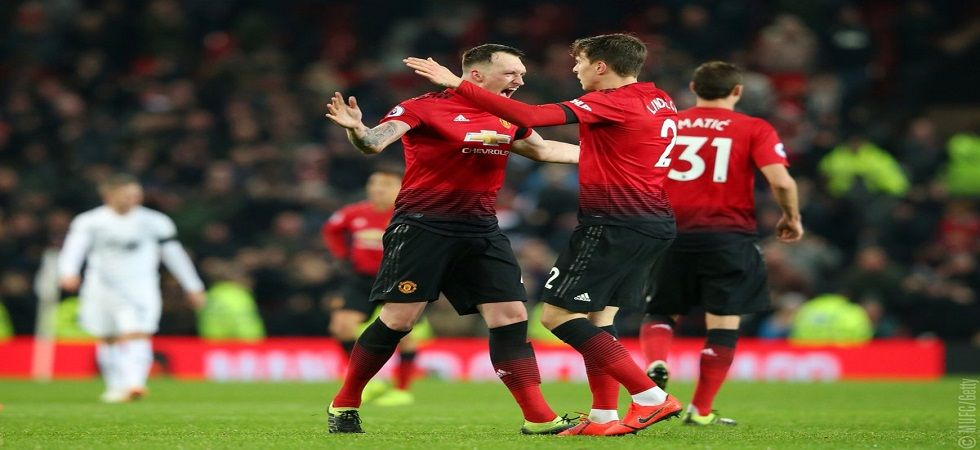 Victor Lindelof scored a goal in the 92nd minute as Manchester United staged an escape against Burnley. (Image credit: Manchester United Twitter)