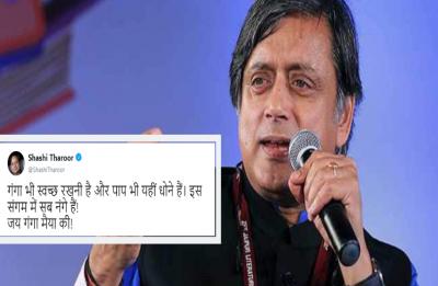 'Sangam mein sab nange': Shashi Tharoor's Kumbh taunt at Yogi Adityanath