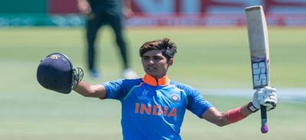 Shubman Gill's century in the Under-19 World Cup semi-final against Pakistan propelled him into the big league. (Image credit: Twitter)