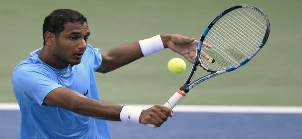 Ramkumar Ramanathan lost in straight sets to Andreas Seppi as India were on the back foot in the Davis Cup qualifier. (Image credit: Twitter)