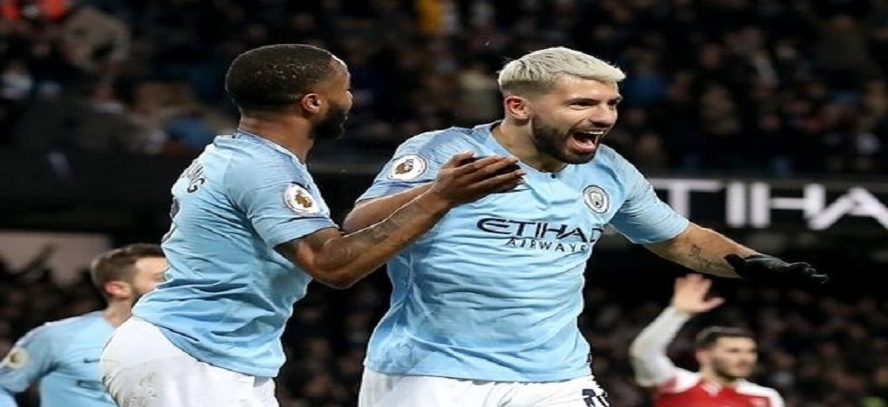 Manchester City closed the gap on Liverpool with a win over Arsenal in the Premier League thanks to Sergio Aguero's hat-trick. (Image credit: Twitter)