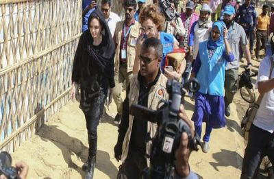 U.N. envoy Angelina Jolie urges Myanmar to stop atrocity against Rohingya Muslims