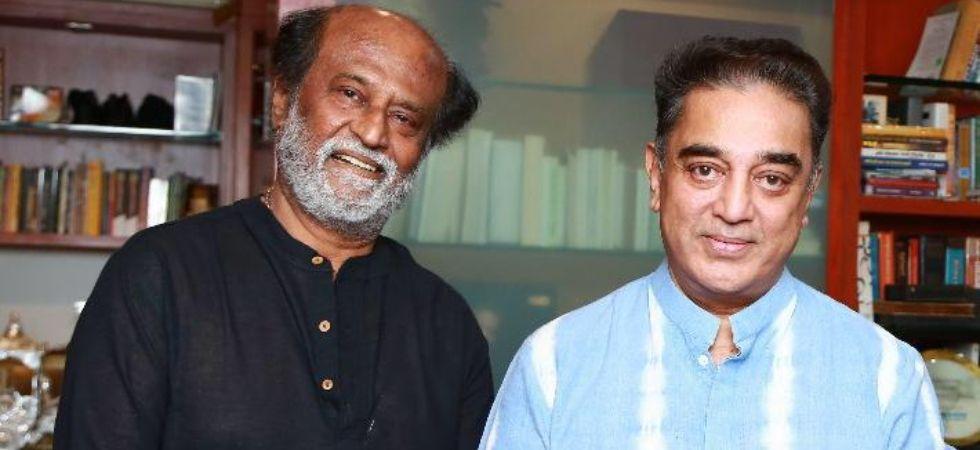 Rajinikanth personally invites Kamal Haasan for daughter Soundarya's