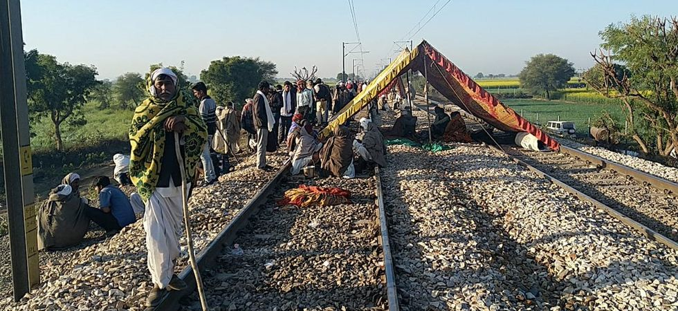 Five trains were cancelled because of the ongoing protest. (Image Credit: ANI)