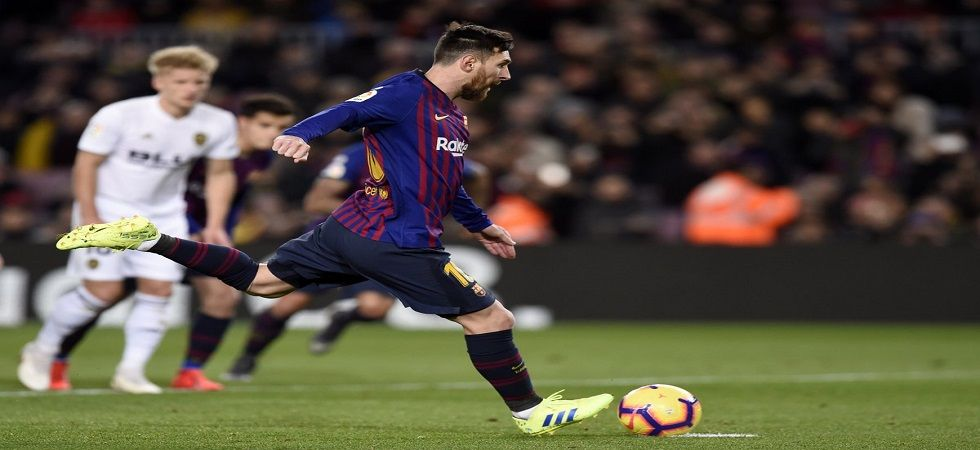 Lionel Messi struggled for fitness as Barcelona's lead in the La Liga was trimmed to six points. (Image credit: UEFA Champions League Twitter)