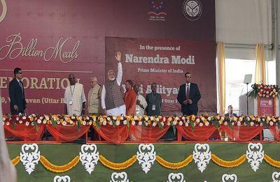 WATCH | PM Narendra Modi serves food to children in Vrindavan
